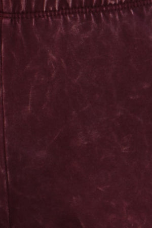 Burgundy Mineral Washed Bell Bottom Pants