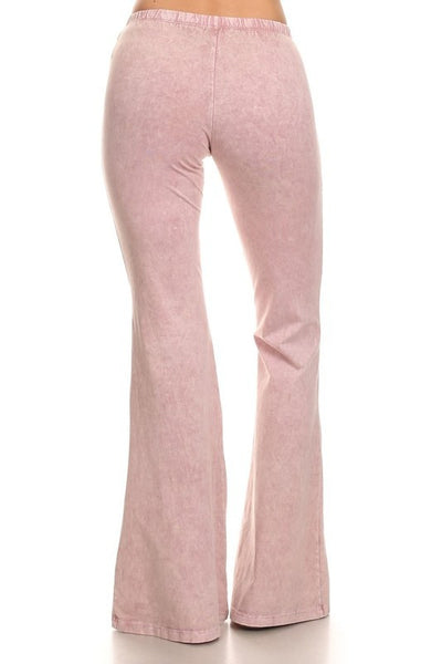 Baby Pink Lilac Denim Looking Bell Bottom Pants