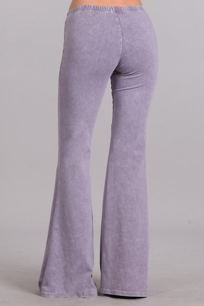 Lilac Mineral Washed Bell Bottom Pants
