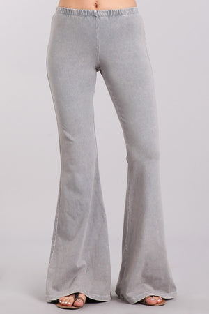 Shades of Grey Mineral Washed Bell Bottom Pants