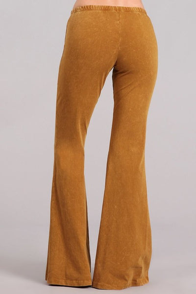 Butterscotch Mineral Washed Bell Bottom Pants