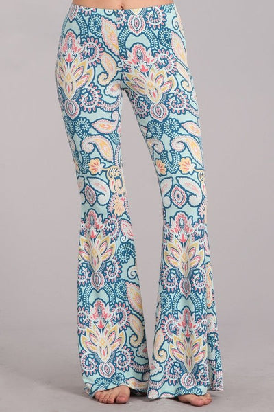 """Ole Magical Mystery Tour"" Retro Paisley Bell Bottoms"