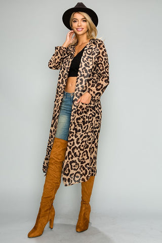 """Ole Jungle Jezebel"" Leopard Print Trench Coat"