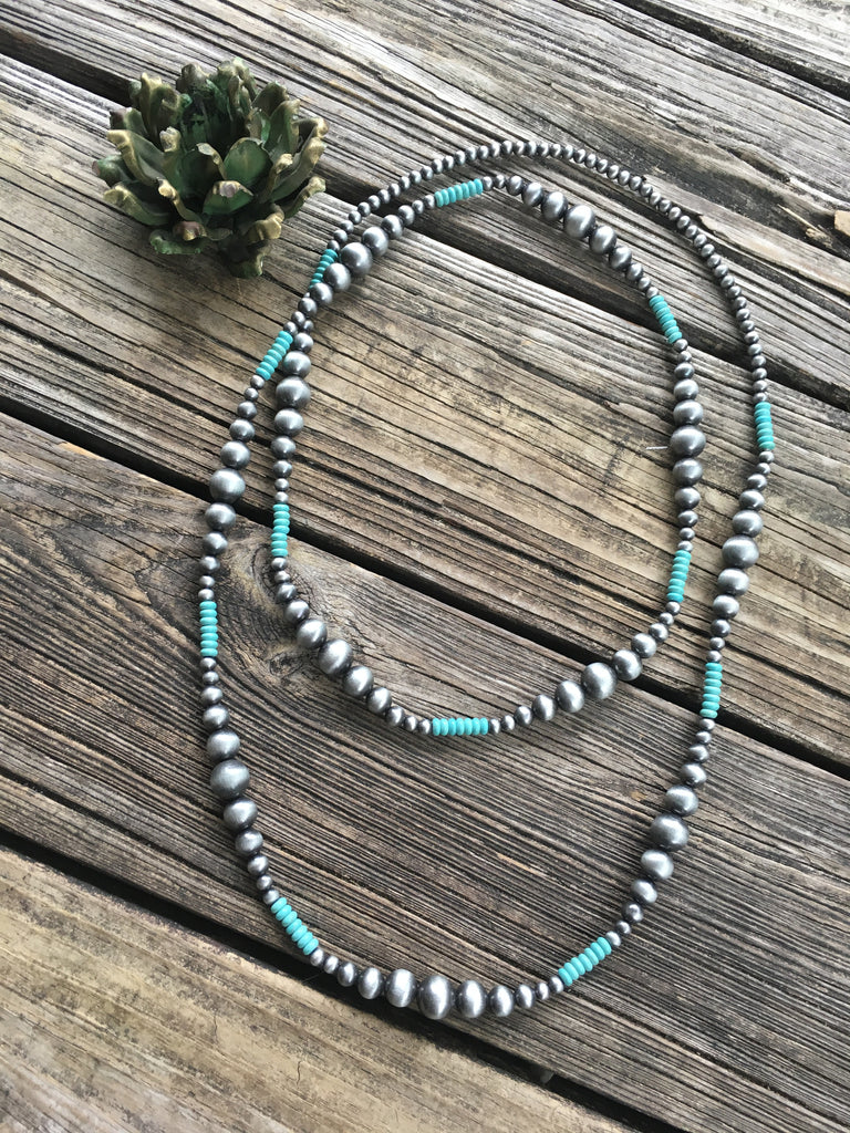 Ralphie Navajo Pearl & Turquoise Necklace