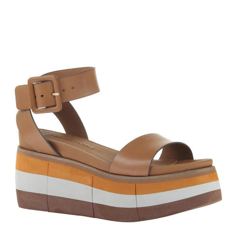 """Ole Altezza In Boxwood"" Retro Style Wedge Sandals"