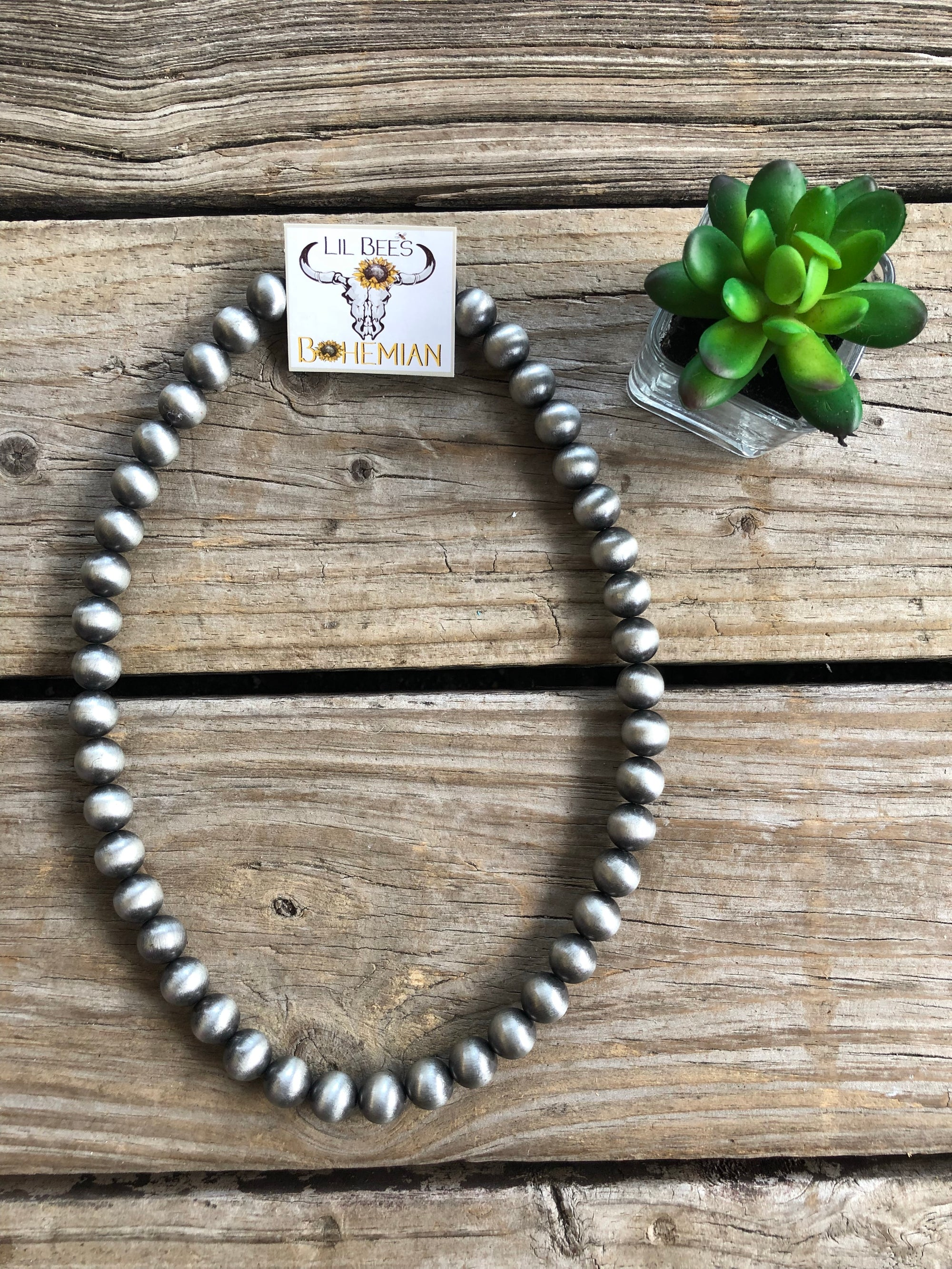 Jumbo Navajo Pearl Bead Necklace ~ 14mm