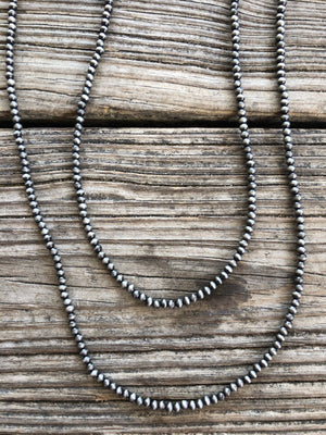 "Navajo Pearl Double Strand 26"" & 30"" Necklace ~ 4mm"