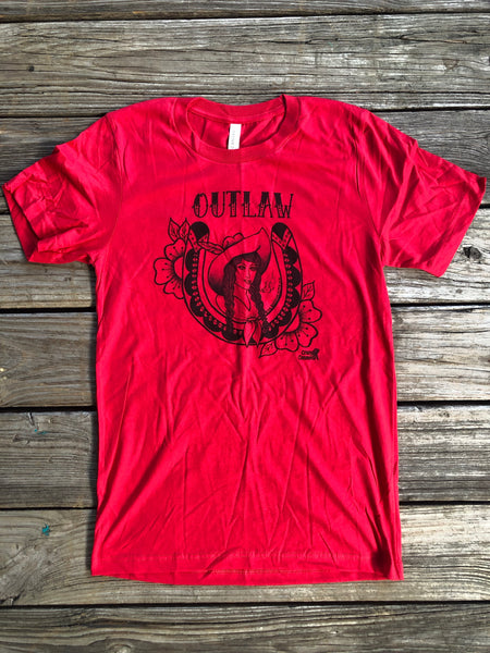 """Ole Lady Outlaw"" Western Style Graphic Tee"