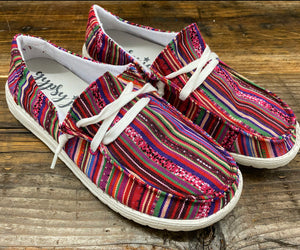 """Ole Gypsy Jazz"" BAJA CANTINA Stripe Slip On Sneaks"