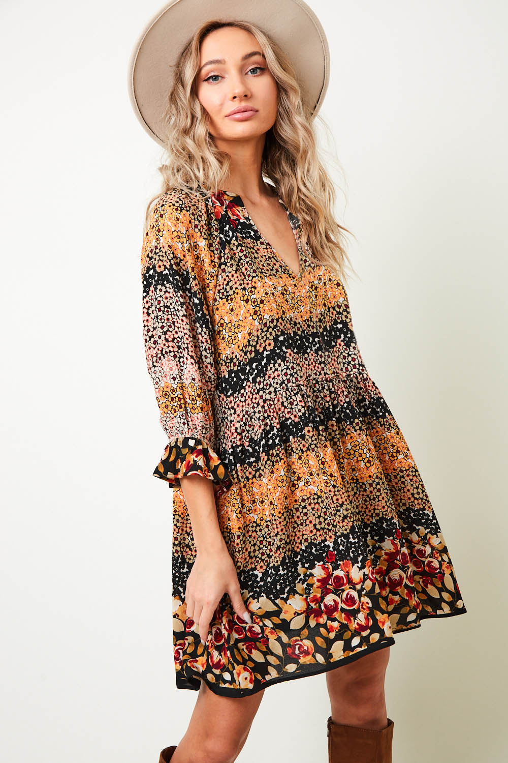"""Ole Garden of Eden"" Vintage Floral Dress &/or Long Tunic Top"