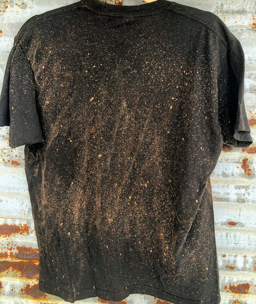 """Ole Kitty Kat Rodeo"" Distressed Leopard Print Bleached Out Graphic Tee"