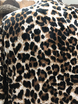 Velvet Leopard Duster/Cardigan ~ Size Medium ~ Queen Bee's Closet