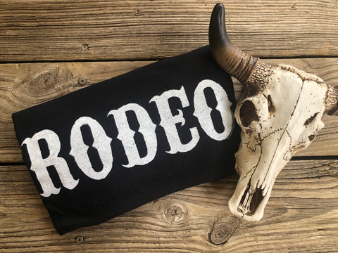 """Ole Rodeo Queen"" Black Graphic Tee"