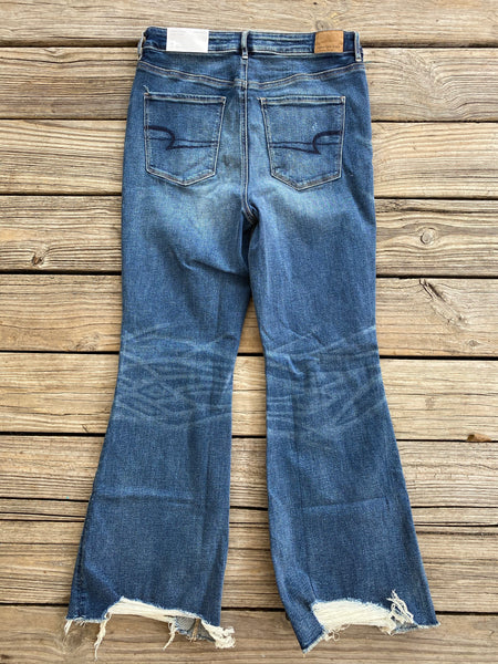 American Eagle Super High Rise Crop Flare Jeans ~ Size 12 & 14 ~ NEW!