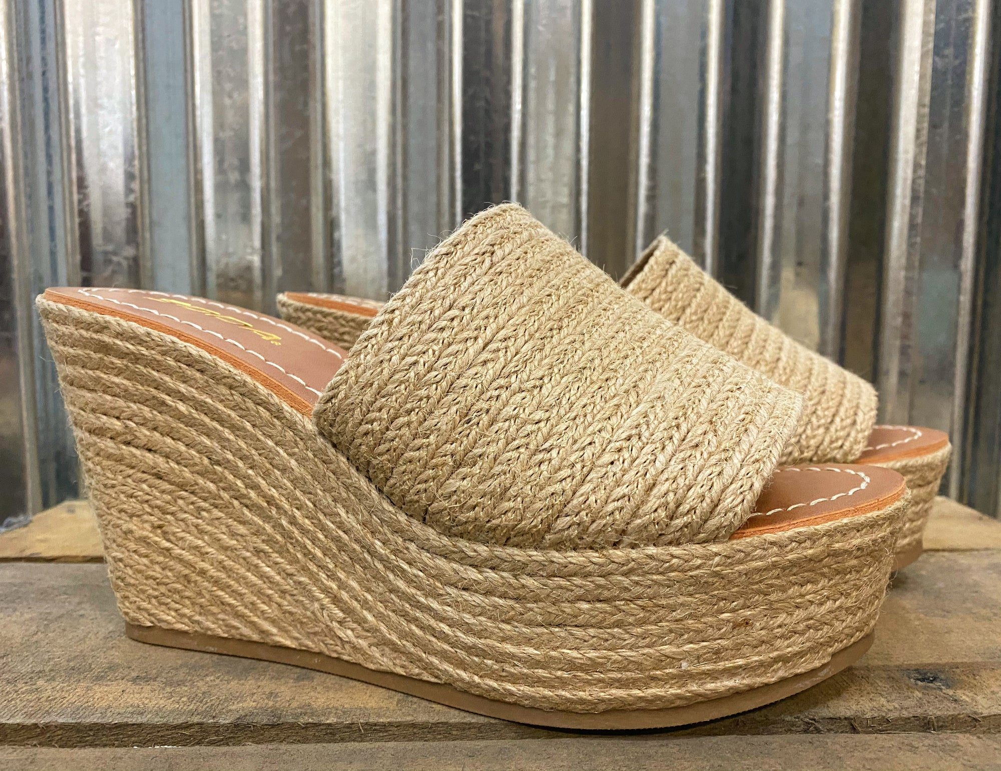 """Ole JUTE Box Hero"" Espadrille Platform Wedge Sandals"