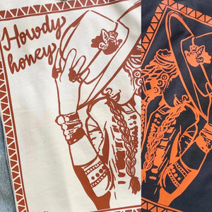 """Ole Howdy Honey"" Bohemian Cowgirl Graphic Tee"