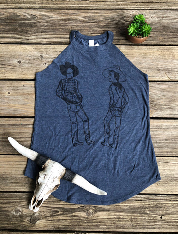 """Hey Ole Buddy"" Old School Cowboy Tank Top"