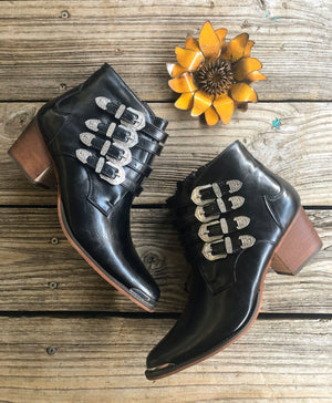 """Ole Country Roads"" Western Buckle Booties"