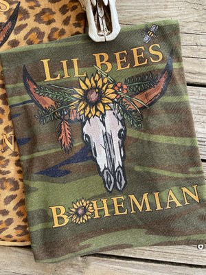 "Lil Bee's Bohemian ""NEW LOGO"" Graphic Tanks"
