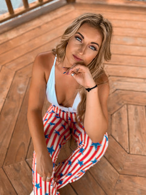 """Ole Yankee Doodle Darling"" Stars & Stripes Bell Bottom Pants"