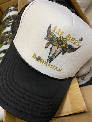 "Lil Bee's Bohemian ""NEW LOGO"" Trucker Hats"