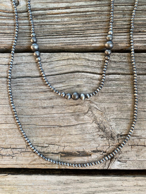 "Navajo Pearl Double Strand 22"" & 30"" Necklace ~ 6mm 8mm & 10mm"