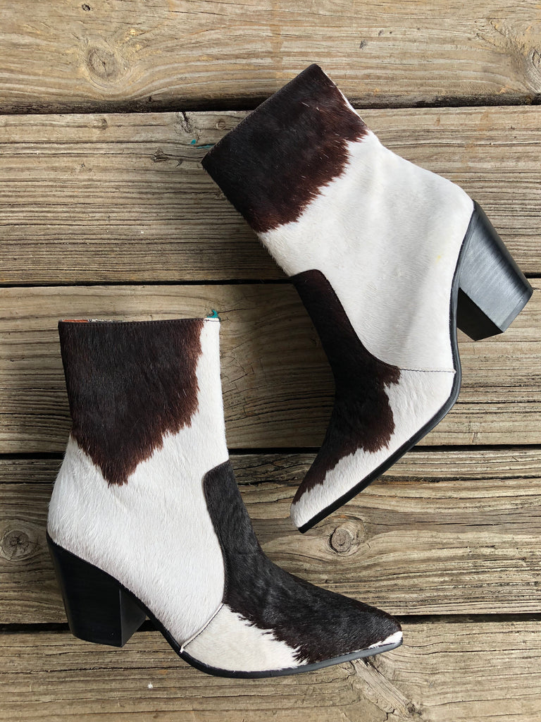 Jeffrey Campbell Cow Hair Weston Ankle Boot