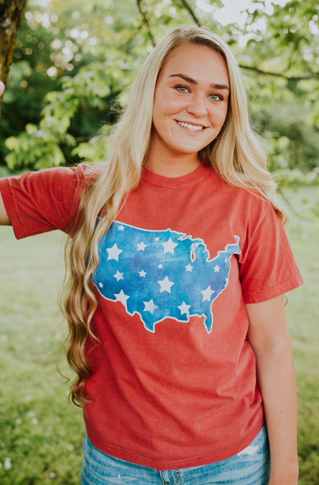 """Ole ROCKIN' In The USA"" Graphic Tee"