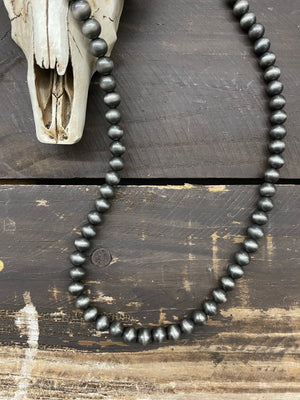 "Single Strand 30"" Inch Navajo Pearl Necklace ~ 10mm"