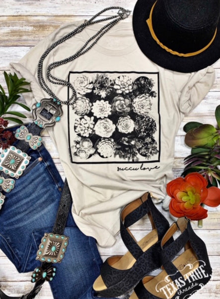"""Ole Succa Succa Budding Love"" Succulent Garden Graphic Tee"
