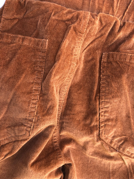"""Ole Streets of Gold"" Dark Goldenrod Camel Brown Corduroy Bell Bottom Pants"