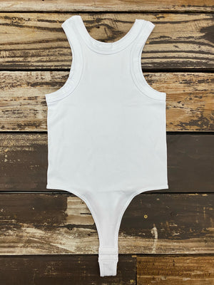 """Ole Classic One"" High Neck Ribbed Bodysuit"