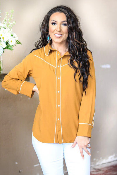 """Ole Darling Clementine"" Retro Style Pearl Snap Button Down Western Shirts"