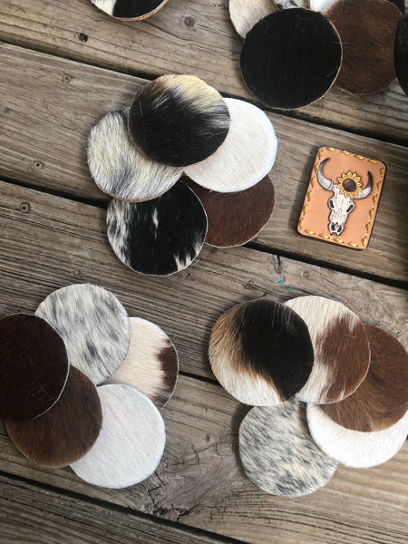 5 Piece Cow Puncher Coaster Set