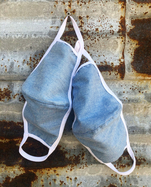 """Ole Face Of The Masses"" Denim Face Mask ~ Final Sale"
