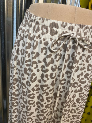 """Ole Cat's Meow"" Leopard Print Tiered Ruffle Maxi Skirt"