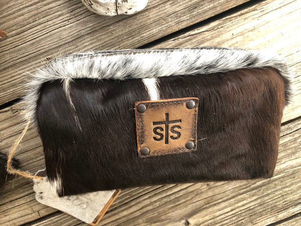 sTs Ranchwear 3 Piece Leather & Cowhide Purse, Clutch/Wallet & Make Up Bag Set #2