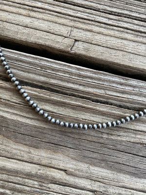 "Navajo Pearl Single Strand 30"" Necklace ~ 4mm"