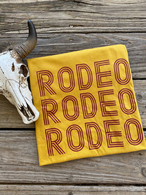 """Ole Rodeo Darling"" Mustard Graphic Tee"