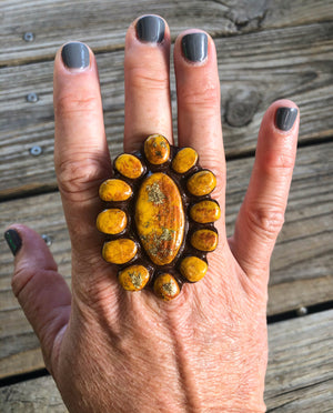 Sookie Sookie Waxahachie Cluster Ring &/or Wild Rag Slide ~ Golden Mustard