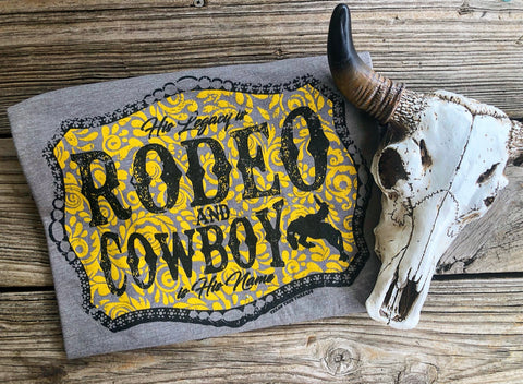 """Ole Rodeo Legacy"" Golden Buckle Graphic Tee"