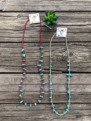 """Ole Cochiti"" Chunky Turquoise Nugget Layering Necklaces"