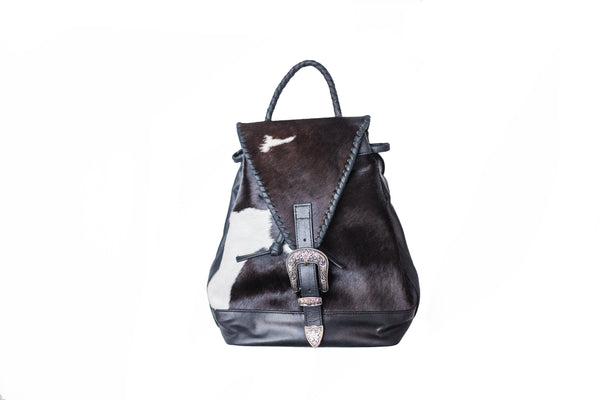 """Ole ALPACA My BACK PACKA"" Leather Hair On Hide Western Buckle Backpacks"