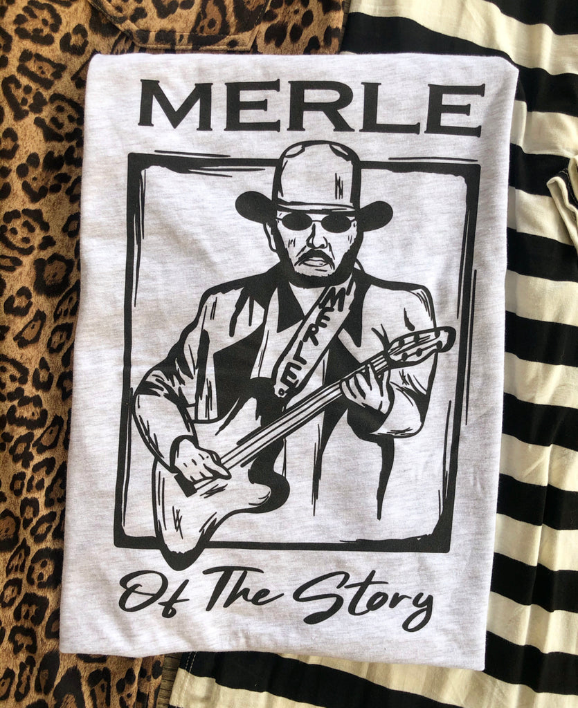 """Ole Merle of the Story"" Ash Grey Graphic Tee"