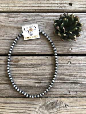 Jumbo Navajo Pearl Bead Necklace ~ 10mm