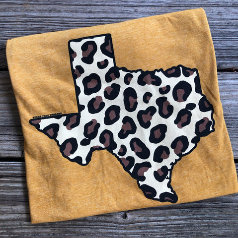 """Ole Texas Pride"" Leopard Print Texas State Graphic Tee"