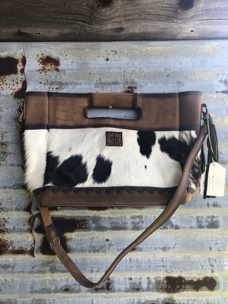 """Ole Jumbo Flat Rock"" StS Ranchwear Cowhide Leather Clutch &/or Cross Body Purse or Briefcase"