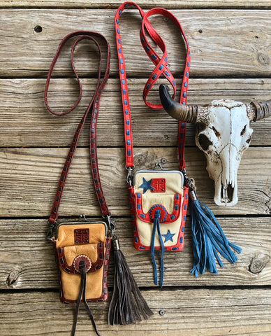 """Ole Open Range"" sTs Ranchwear Retro Leather Pouch Purse"