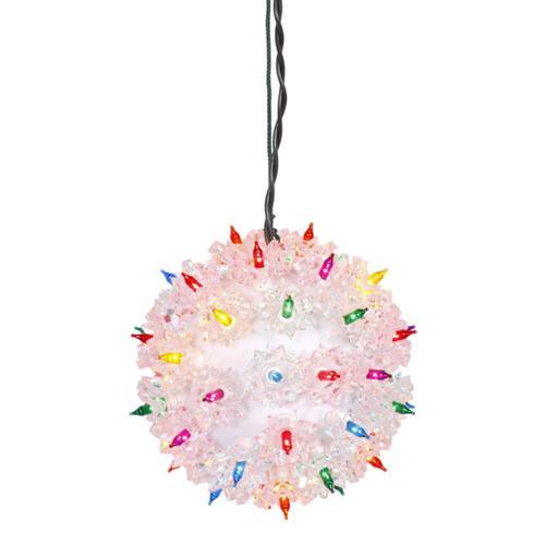 "7.5"" Multi-Color Pre-Lit Starlight Hanging Sphere Christmas Ball Decoration"