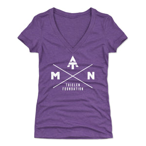 Adam Thielen Women's V-Neck T-Shirt | 500 LEVEL